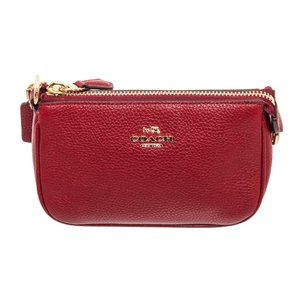 Coach Red Leather Nolita Wristlet